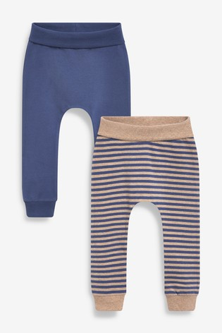 Navy/Oatmeal 2 Pack Stretch Leggings (0mths-2yrs)