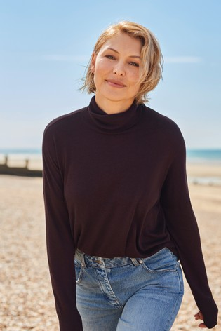 Red Emma Willis Roll Neck Top