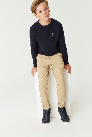 Stone Slim Fit Stretch Chino Trousers (3-16yrs)
