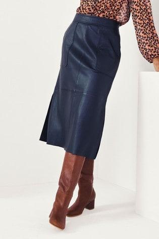 Second Female Francie Leather Midi Skirt