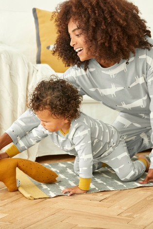 Scion At Next Grey Fox Cotton Pyjamas