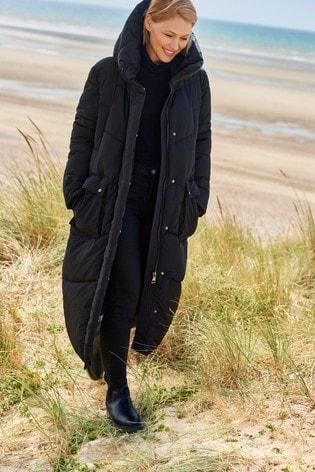 Black Emma Willis Long Padded Jacket