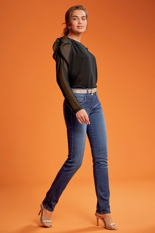Royal Blue Lift, Slim And Shape Slim Jeans
