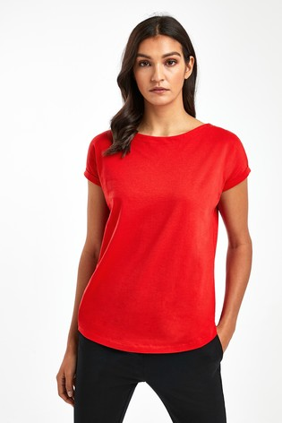 Red Cap Sleeve T-Shirt