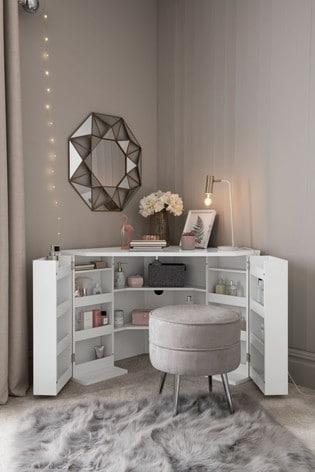 Buy White Gloss Corner Dressing Table from the Next UK ...