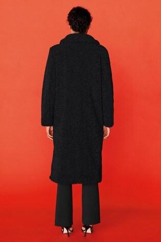 Black Teddy Revere Borg Coat