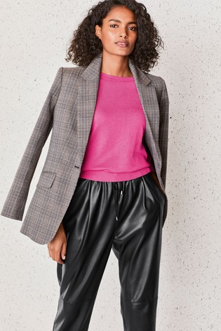Grey Check Premium Tailored Blazer