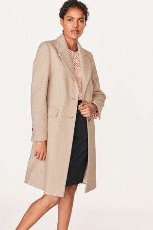 Neutral Revere Collar Coat
