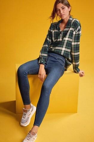 Green Check Boyfriend Shirt