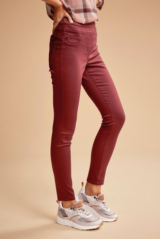 Berry Super Stretch Soft Sculpt Pull-On Denim Leggings