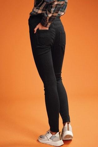 Black Super Stretch Soft Sculpt Pull-On Denim Leggings