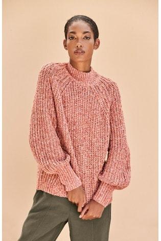 Pink Volume Sleeve Jumper