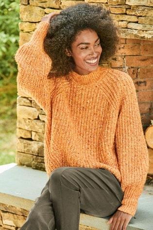 Orange Volume Sleeve Jumper