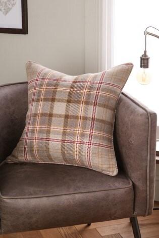 Hartley Check Cushion