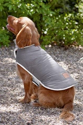 Grey Padded Dog Coat