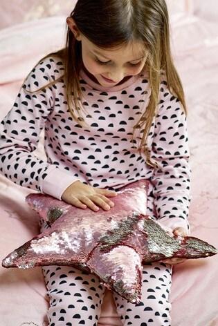 Sequin Star Cushion