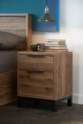 Buy Bronx Metal 2 Drawer Bedside Table From The Next Uk