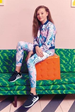 af38f5dd240920 Buy adidas Originals Pink/Blue Marble Legging from the Next UK ...