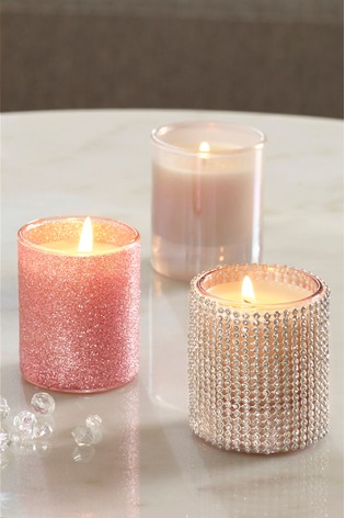 Set Of 3 Iced Berry Candles by Next