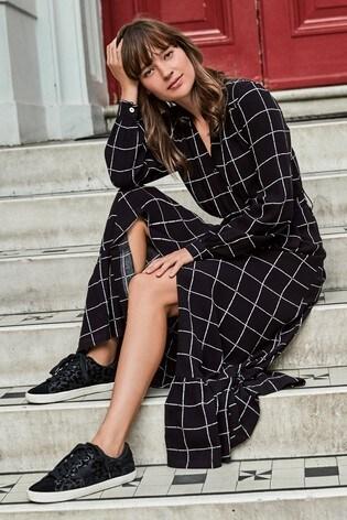 Tiered Wrap Midi Shirt Dress by Next