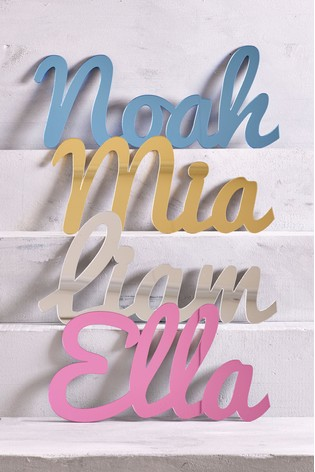 Personalised Acrylic Short Name Mirror Sign by Loveabode