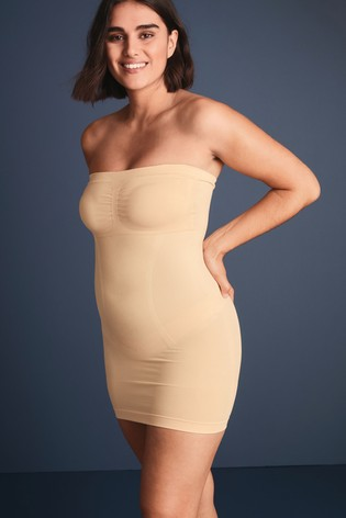Nude Firm Control Strapless Slip