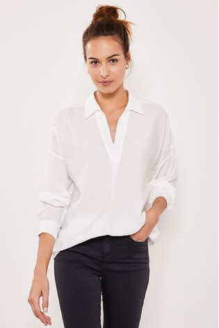 Mint Velvet Ivory Throw On Shirt