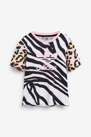 adidas Originals Little Kids Animal Print T Shirt