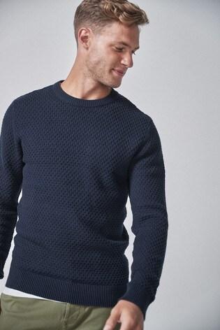 Kaufen Sie Strukturierter Pullover mit Rundhalsausschnitt