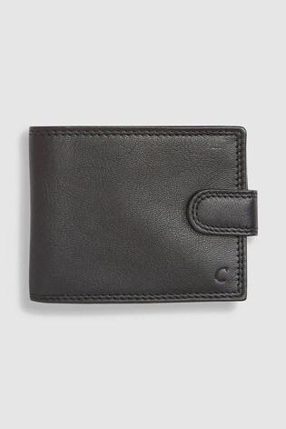 Black Monogram Leather Extra Capacity Wallet