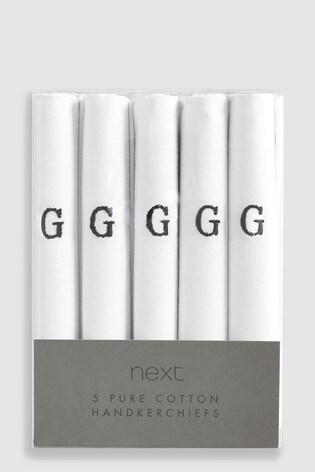 White Handkerchiefs Five Pack