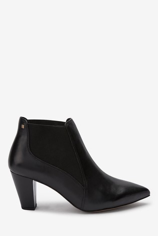 Black Extra Wide Fit Forever Comfort® Formal Ankle Boots