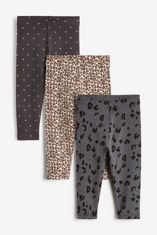 Animal 3 Pack Leggings (3mths-7yrs)