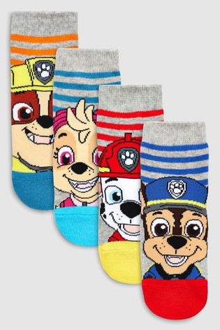 Stripe PAW Patrol Socks Four Pack