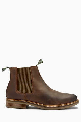 Barbour® Choco Brown Farsley Chelsea Boots