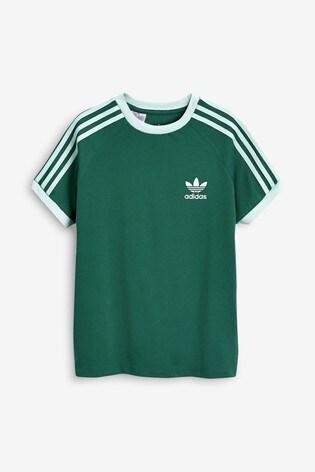 adidas Originals - California - T Shirt mit drei Streifen