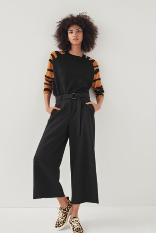 Mix/Teija Tailored Cropped Belted Trousers
