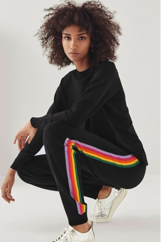 Mix/Madeleine Thompson Rainbow Stripe Knitted Trousers