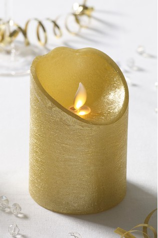 Real Wax Gold LED Candle