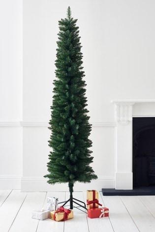 Slim Christmas Tree.Forest Pine Slim 7ft Unlit Christmas Tree