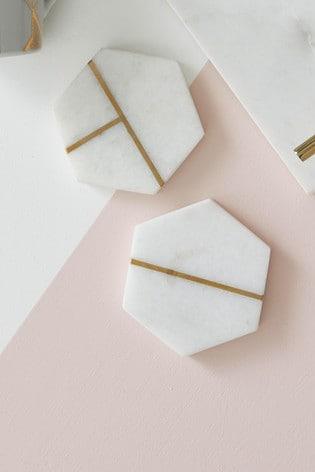Set of 2 Lipsy Marble Coasters