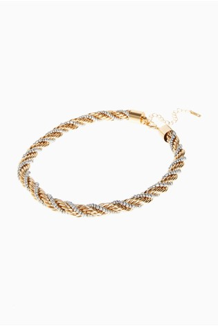 Gold Tone/Silver Tone Twisted Necklace