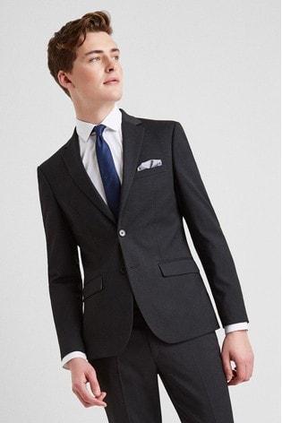 Moss London Skinny Fit Charcoal Stretch Jacket