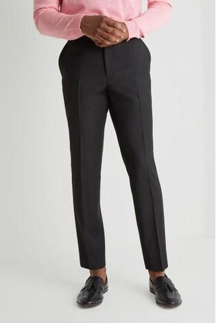 Moss London Skinny Fit Black Stretch Trouser