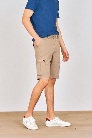 Stone Belted Cargo Shorts