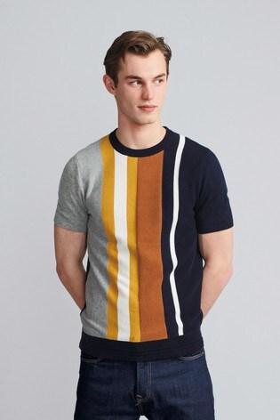 Navy/Ginger Premium Stripe T-Shirt