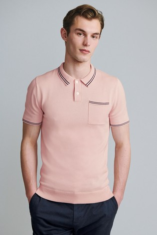 Pink Premium Tipped Pocket Polo
