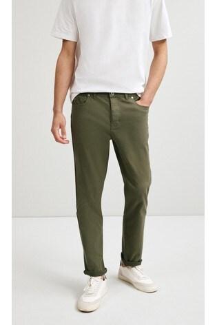 Light Khaki Slim Fit Motion Flex Soft Touch Trousers