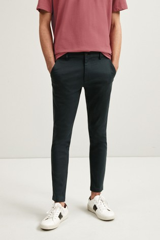 Grey Skinny Fit Motion Flex Soft Touch Chino Trousers