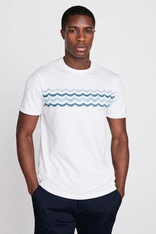 White Wave Graphic T-Shirt